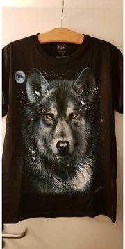 T-Shirt beidseitig bedruckt Wölfe