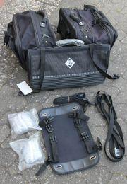 Motorrad Satteltaschen mit Gepäckrolle - teildefekt