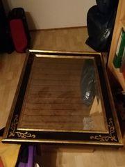 Spiegel in Gold Schwarz