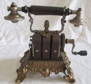 antik BRONZE TELEFON ERICSSON HÖRER