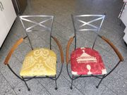 2x Metallstuhl Designerstuhl Einzelstücke