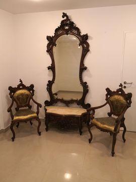Sonstige Antiquitäten - Antike Barock Salon Garnitur