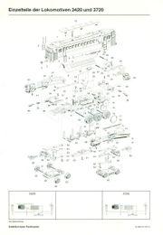MÄRKLIN Explosionszeichnungen verschiedene Modelle