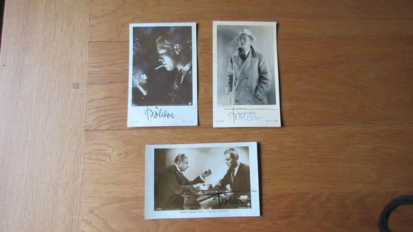 Autogrammkarten 20er Jahre Gustav Fröhlich