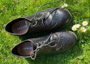 Damen Schuhe schwarz Leder