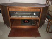 Musikschrank Radio Plattenspieler