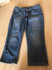Damen 3 4 Jeans Hose
