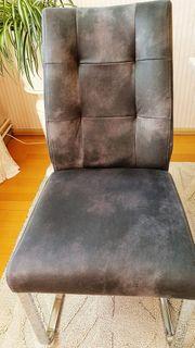 Esszimmer-Stühle Antrazit