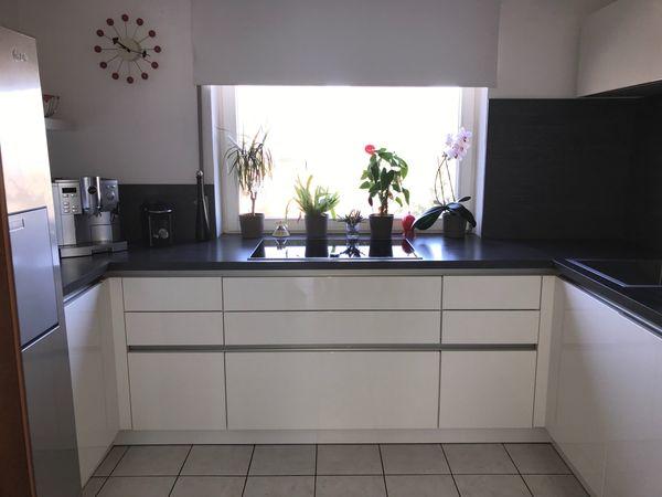 Side By Side Kühlschrank Einbaugerät : Hochwertige hochglanz küche schüller neff einbaugeräte und side by