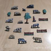 Konvolut alte Zinnfiguren - Bauernhof 20