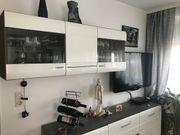 Wandschrank Wohnzimmer weiß aus massivem