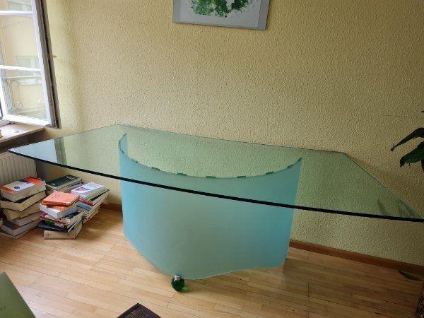 Designer Schreibtisch aus Glas Bürotisch