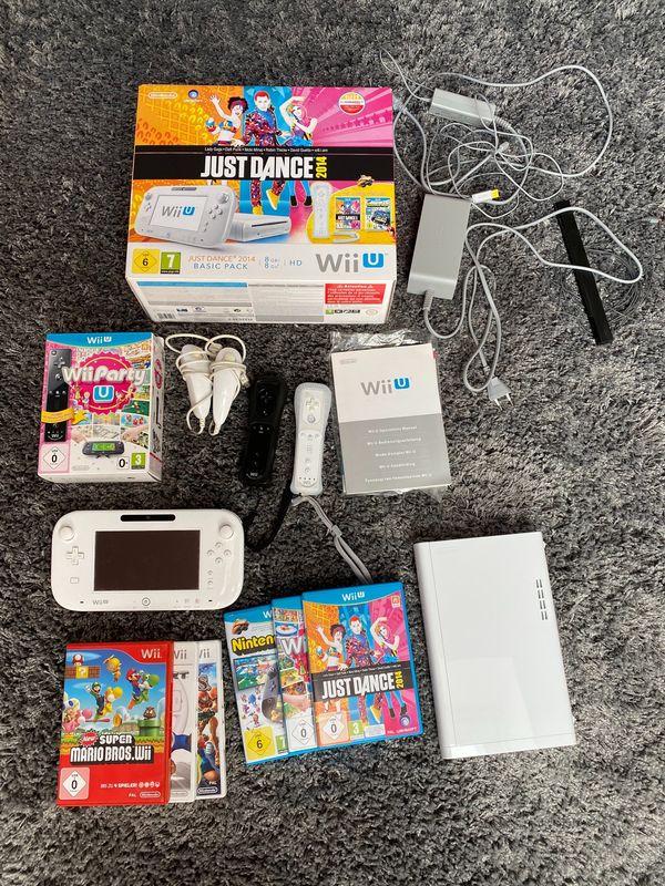 Nintendo Wii U weiß mit Zubehör und Spielen