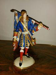 Nymphenburg Porzellan Figur Fahnenträger Regiment