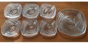 6 tolle Glasteller 1Tortenteller