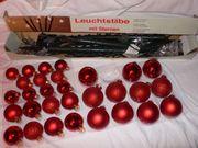 Weihnachtskugeln Baumschmuck 30 Set Glaskugeln