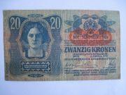 Banknote Geldschein 20 Kronen Hüsz