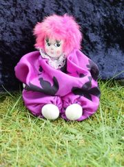 Clown Puppe mit Porzellankopf pinke