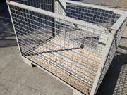 DB-Gitterboxen Lagerung stapeln bauen