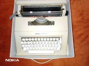 Koffer- Reiseschreibmaschine Olivetti Lettera 25