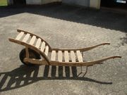 Holzschubkarren mit Gummibereifung