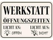 Blechschild Werkstatt 16 5 x11