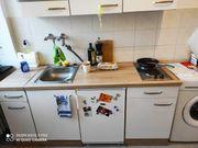 Küchenzeile mit 2 Herdplatten und