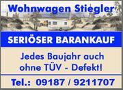 Ankauf von Wohnmobile und Wohnwagen