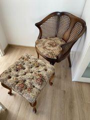 Wunderschöner kleiner Chippendale Sessel samt