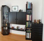 Moderne Wohnzimmer Schrankwand Vitrine Regal