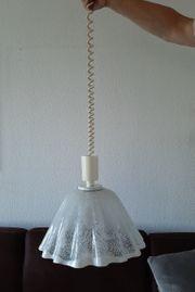 Lampe Glas weiß