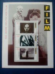 Briefmarkenblock 100 Jahre Deutscher Film