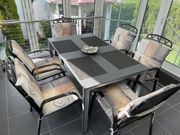 6 Gartenmöbel - Terrassenstühle - Streckmetall mit