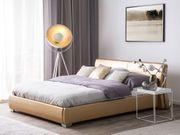 Lederbett gold Lattenrost 180 x
