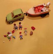 playmobil Boot Auto Bootsanhänger gebraucht