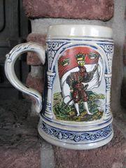 Bierkrug - Steinzeug - Gerz - Vintage