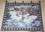sehr schöner Wandteppich Schwanensee von