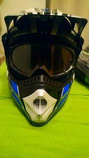 Vigo Motocrosshelm mit UVEX Brille