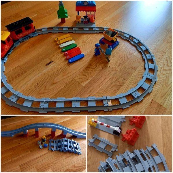 Lego Duplo Eisenbahn inkl Schienenerweiterung