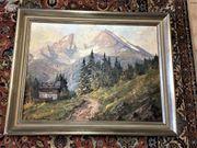 Ölgemälde Bild Adolf Schlüter Landschaftsmalerei