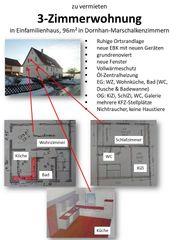 3-Zimmerwohnung in Einfamilienhaus 96m2 ab