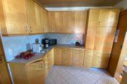 Einbauküche massive Ahorn Holzfront mit
