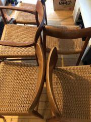 5x Teakholz Stühle von Møller