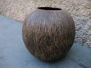 Kugelvase Vase 70er Kokosnuss aus