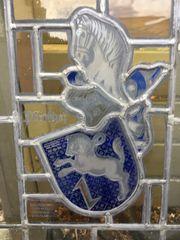 Bleiverglastes Fenster Motiv Pferd Reiter