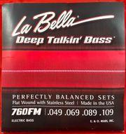 La Bella 760FM - Flatwound-Bass-Saiten 4-String