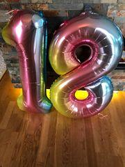 Ballons Schriftzug 18 vielleicht kann