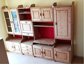 Wohnzimmerschränke, Anbauwände - Zeitlose wohngesunde Schrankwand Wohnwand aus