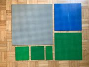 Lego Grundplatten Grau Grün und