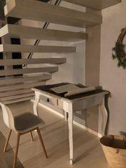 Weißer Tisch antik original Biedermeier